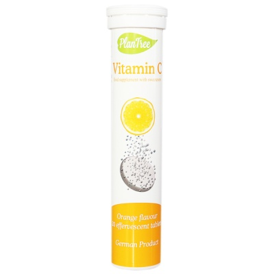 Plantree Vitamin C Effervescent Tables (Orange Flavour) 86g