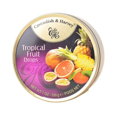Cavendish & Harvey Tropical Fruit Drops Candy 200g