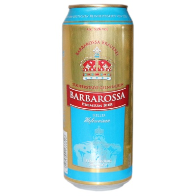 Barbarossa White Wheat Beer 500ml