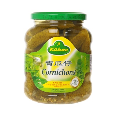 Kuhne Sweet&Sour Cornichons 330g
