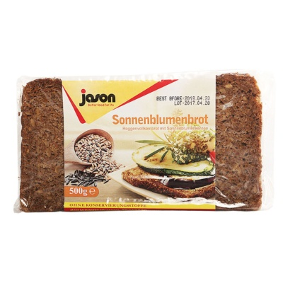 Jason Sunflower Seeds Rye Bread 500g