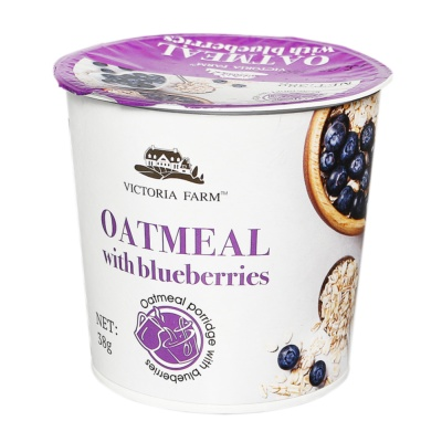 Victoria Farm Oatmeal With Blueberries 38g