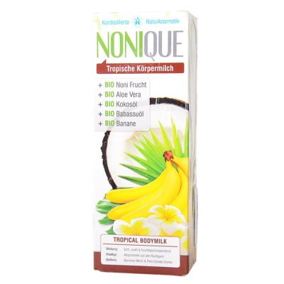 Nonique Tropical Body Milk Banana Milk & Pina Colada Cream 200ml