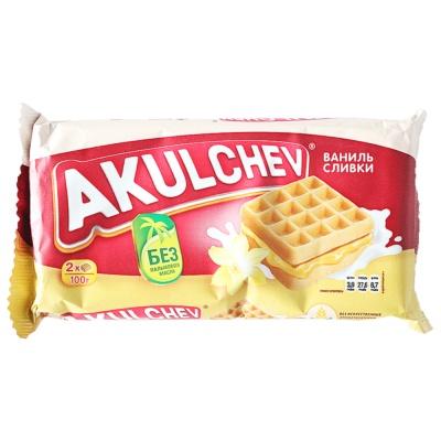 Akulchev Cream Vanilla Flavor Waffle Cake 100g