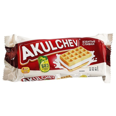 Akulchev Creamy Waffles Biscuits 140g
