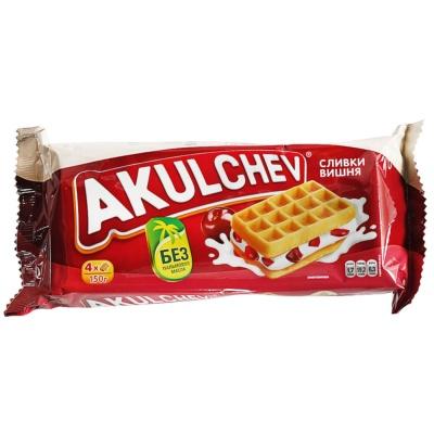 Akulchev Cream&Cherry Waffles 140g