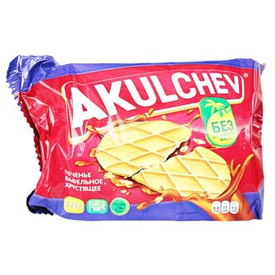 Akulchev Creamy Taste Crisp Waffles 225g