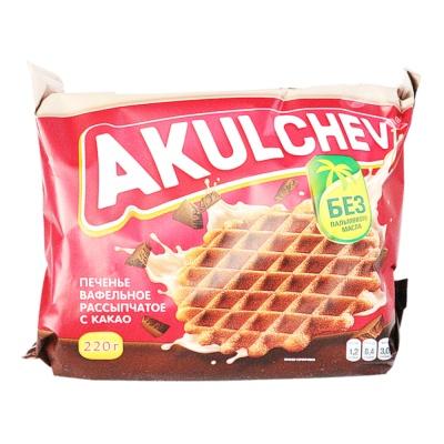 Akulchev Cocoa Taste Crisp Waffles 220g