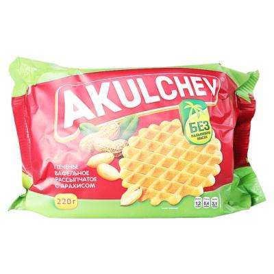 Akulchev Peanut Taste Crisp Waffle 220g