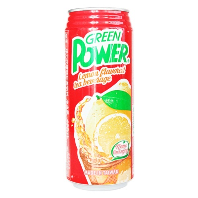 Green Power Lemon Flavored Tea Beverage 480ml