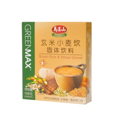 Greenmax Brown Rice & Wheat Cereal 3*35g