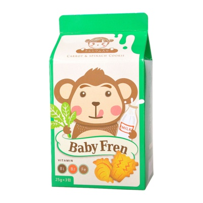 Baby Fren Vitamin Carrot & Spinach Cookie 75g