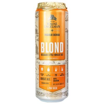 Volfas Engelman Blond Belgian Style Wheat Ale 568ml