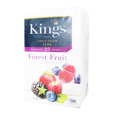 King's Forest Fruit Black Teas 50g
