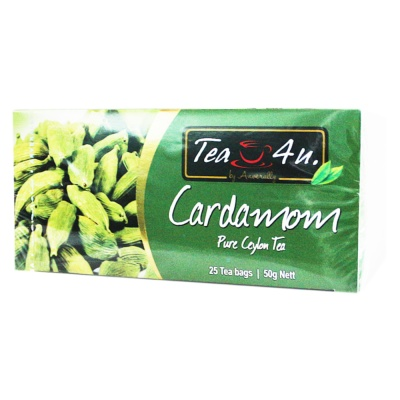 TEA4U Cardamom Pure Ceylon Tea 25*2g