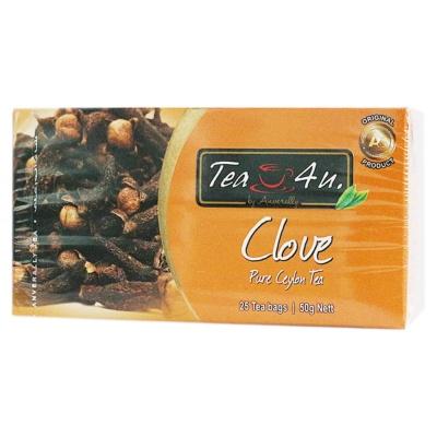 TEA4U Clove Pure Ceylon Tea 25*2g