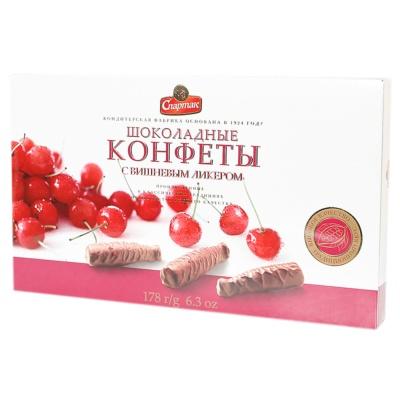Alunka Spartak Cherry Liqueur Sandwich Chocolate 178g