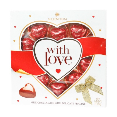 Lubimov Heart-Shaped Hazelnut Milk Chocolate 125g