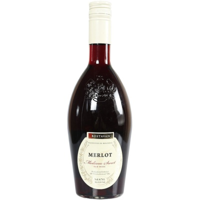 Bostavan Merlot Medium Sweet Red Wine 750ml