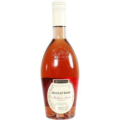 Bostavan Muscat Rose Medium Sweet Red Wine 750ml