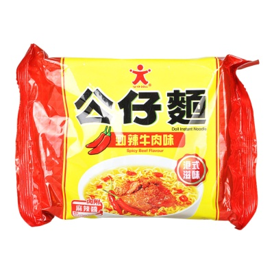 Doll Spicy Beef Flavor Doll Instant Noodle 103g