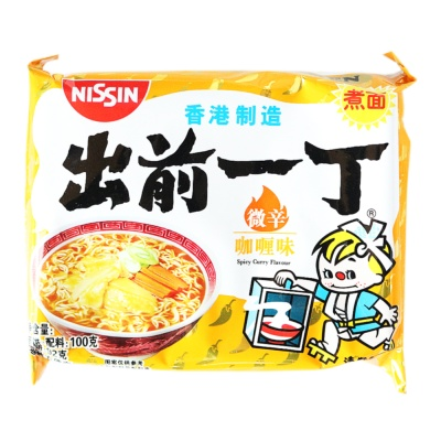 Nissin Spicy Curry Flavour Instant Noodle 100g