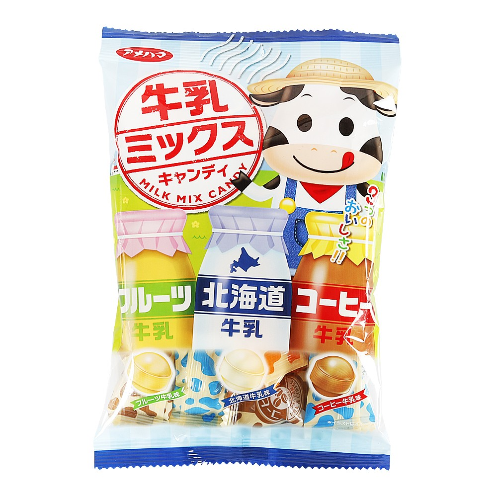 Amehama Mixed Milk Flavored Candy 75g