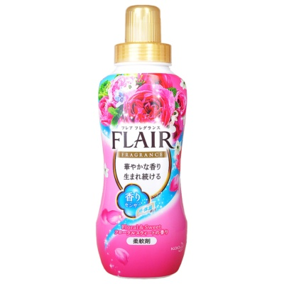 Kao Flair Floral&Sweet Fabric Softener(Pink) 570ml