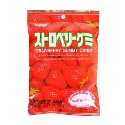 Kasugai Strawberry Gummy Candy 107g