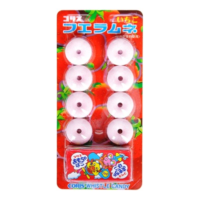 Coris Strawberry Flavored Whistle Candy 22g