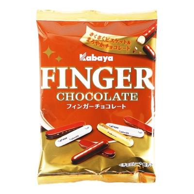 Kabaya巧克力涂层手指形饼干 51g