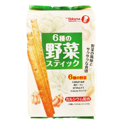 Takara Wild Vegetables Flavor Stick Biscuit Sticks 85g