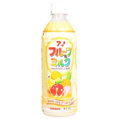 三佳利多种黄色水果乳味饮料 500ml