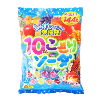 Ribon 10 Flavor Fruit Soda Candy 120g