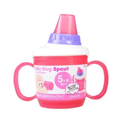 樱花汇儿童塑料壶嘴水杯-红色 230ml