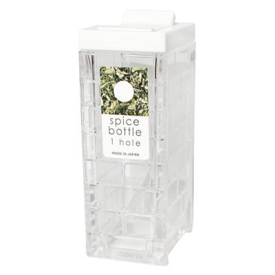 Inomata Square Seasoning Bottle(1 Hole)(White) 1p