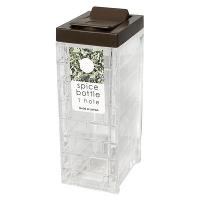 Inomata Square Seasoning Bottle(1 Hole)(Brown) 1p