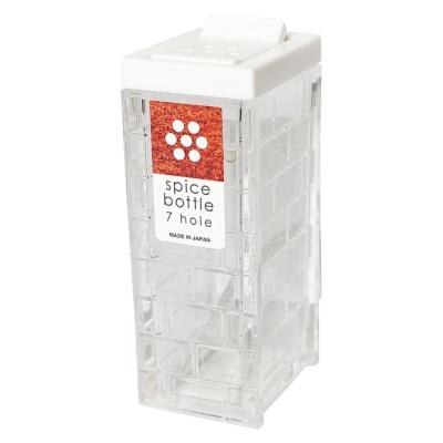Inomata Square Seasoning Bottle(7 Hole)(White) 1p
