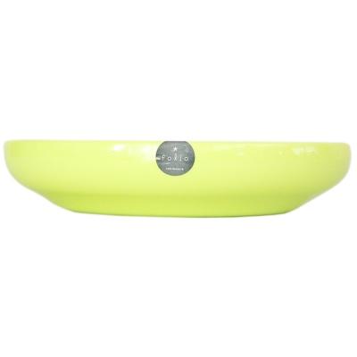 Folio Plastic Plate-Deep Circular(Green) 1p