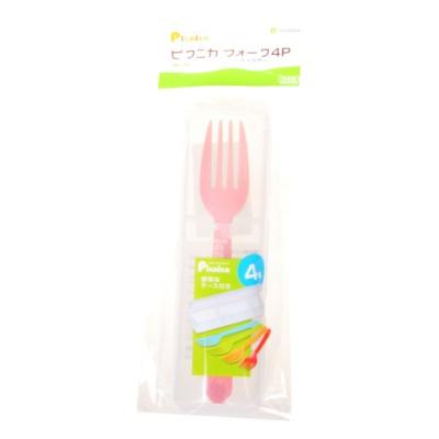 Inomata Children's Plastic Fork 4p