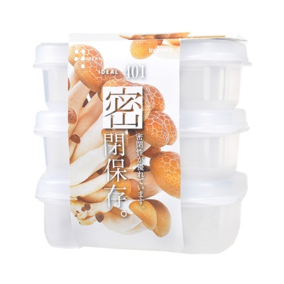 Inomata Plastic Food Container 3pcs