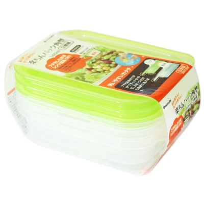 Inomata Rectangular Crisper 140ml*3p