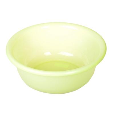 浪漫樱花塑料脸盆-绿色 3.5L