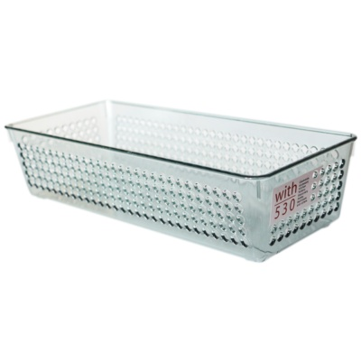 Inomata Basket(Clear Gray) 1p