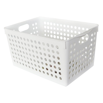 Inomata Deep Stock Basket -White 27.4*18*14.3