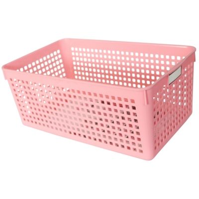 Mesh Storage Basket(Pink) 16.8*29*11.8