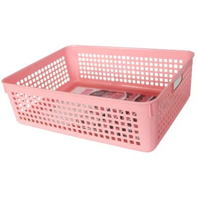 Mesh Storage Basket(Pink) 21.4*28.9*8.8