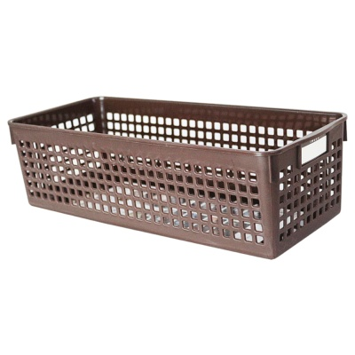 Inomata Name Basket(Long)(Brown) 12.8*30.1*8.8Hcm