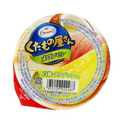 Tarami Cantaloupe White Peach Coconut Jelly 160g