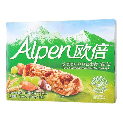 Alpen Fruit & Nut Mixed Cereal Bar (Pastry) 140g